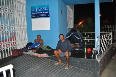 Mineiros montaram barraca / Foto: Blog do Anderson